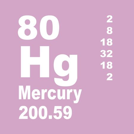Mercury is a chemical element with symbol Hg and atomic number 80. Reklamní fotografie - 137327617