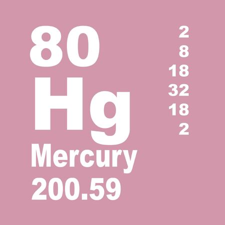 Mercury is a chemical element with symbol Hg and atomic number 80. Reklamní fotografie - 137327834