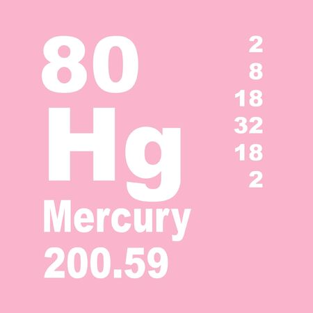 Mercury is a chemical element with symbol Hg and atomic number 80. Reklamní fotografie - 137327810