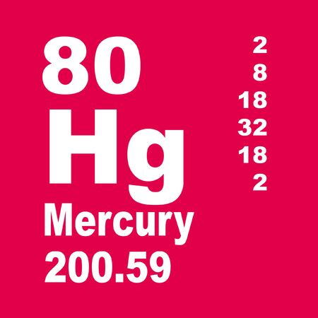 Mercury is a chemical element with symbol Hg and atomic number 80. Stock fotó