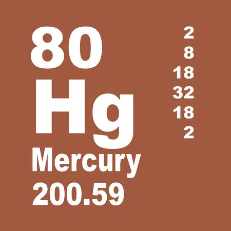 Mercury is a chemical element with symbol Hg and atomic number 80. Reklamní fotografie - 137327845
