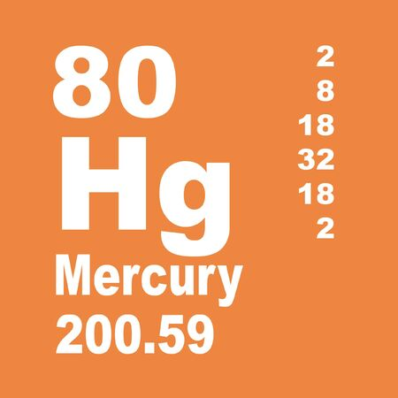 Mercury is a chemical element with symbol Hg and atomic number 80. Reklamní fotografie - 137327853
