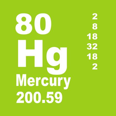 Mercury is a chemical element with symbol Hg and atomic number 80. Reklamní fotografie - 137327887
