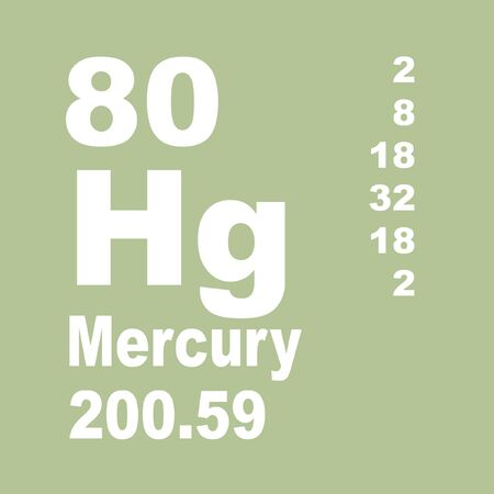 Mercury is a chemical element with symbol Hg and atomic number 80. Reklamní fotografie - 137327888