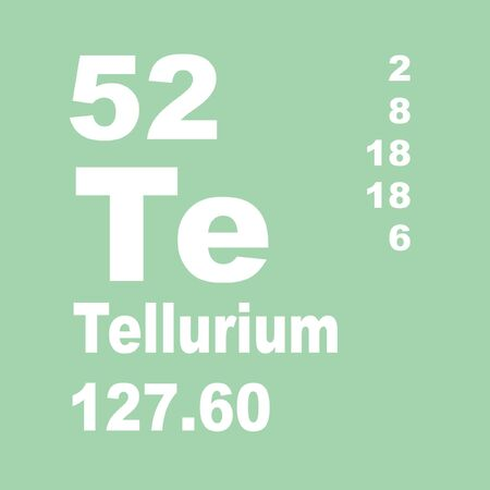 Tellurium is a chemical element with symbol Te and atomic number 52.
