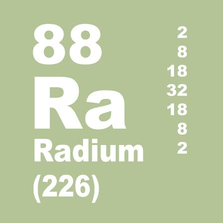 Radium is a chemical element with symbol Ra and atomic number 88.