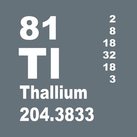Thallium is a chemical element with symbol Tl and atomic number 81.