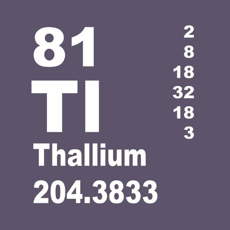 Thallium is a chemical element with symbol Tl and atomic number 81. Stock fotó