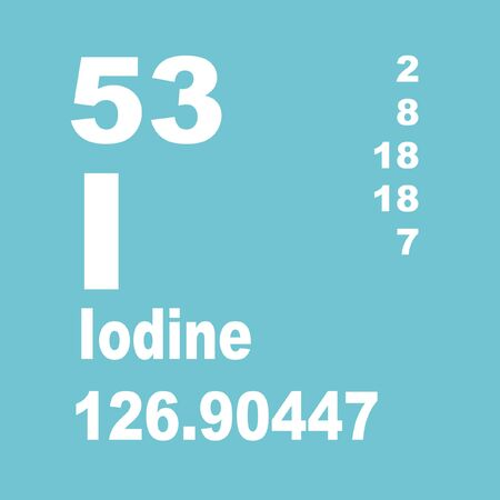 Iodine is a chemical element with symbol I and atomic number 53.