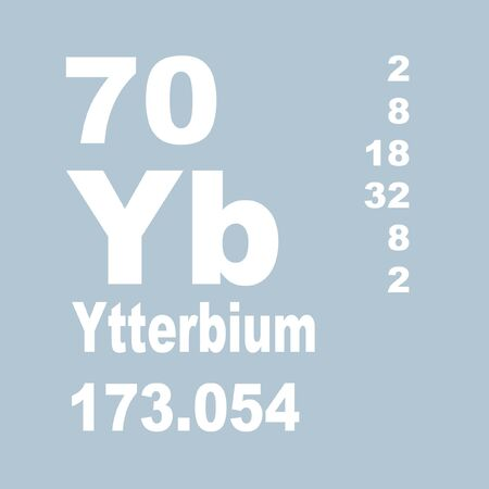 Ytterbium is a chemical element with symbol Yb and atomic number 70.