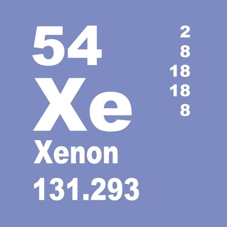 Xenon is a chemical element with symbol Xe and atomic number 54