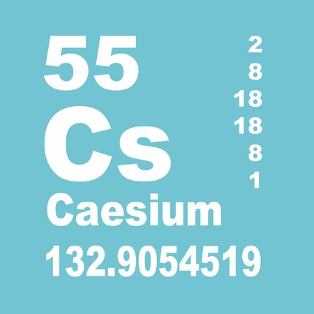 Caesium or cesium is a chemical element with symbol Cs and atomic number 55