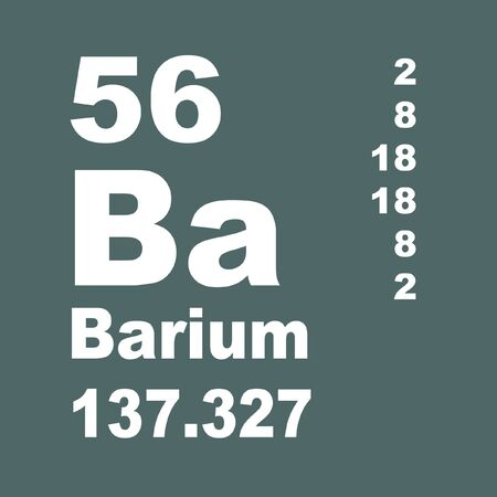 Barium is a chemical element with symbol Ba and atomic number 56