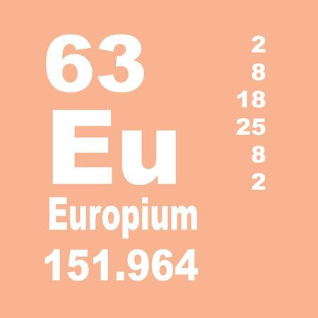 Europium is a chemical element with symbol Eu and atomic number 63