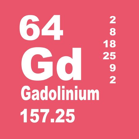 Gadolinium is a chemical element with symbol Gd and atomic number 64.