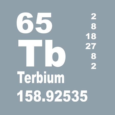 Terbium is a chemical element with symbol Tb and atomic number 65.