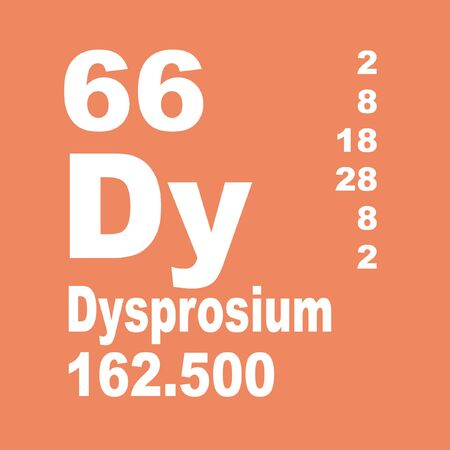 Dysprosium is a chemical element with the symbol Dy and atomic number 66.