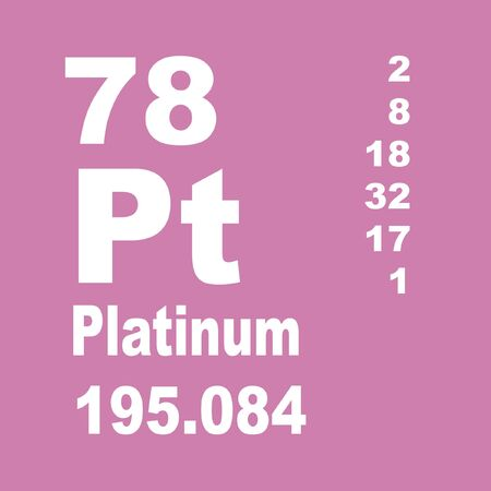 Platinum is a chemical element with symbol Pt and atomic number 78. Stock fotó
