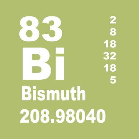 Bismuth is a chemical element with symbol Bi and atomic number 83. 版權商用圖片