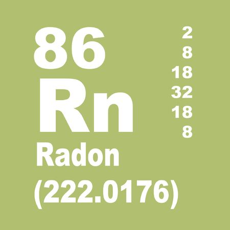 Radon is a chemical element with symbol Rn and atomic number 86.