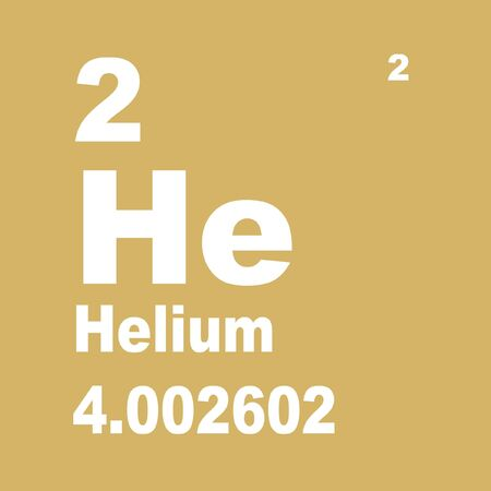 Helium is the chemical element with atomic number 2. Stock Photo