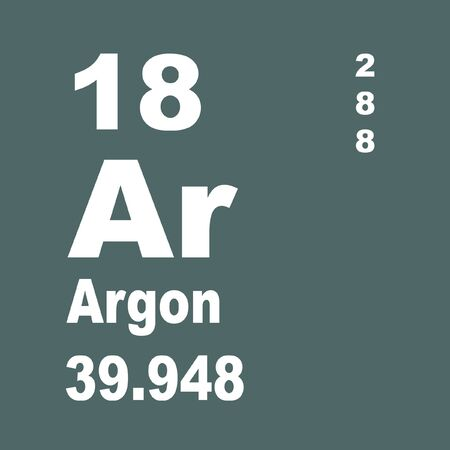 Argon is a chemical element designated by the symbol Ar. Argon has atomic number 18 and is the third element in group 18 of the periodic table (noble gases).