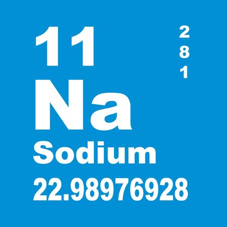Sodium is a chemical element with symbol Na (from New Latin natrium) and atomic number 11