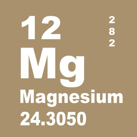 Magnesium is a chemical element with symbol Mg and atomic number 12. Zdjęcie Seryjne