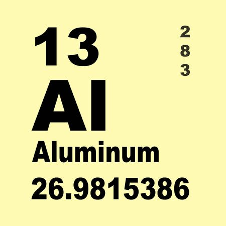 Aluminium or aluminum is a chemical element in the boron group with symbol Al and atomic number 13 Stok Fotoğraf
