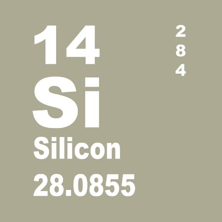 Silicon is a chemical element with symbol Si and atomic number 14.
