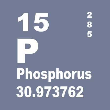 Phosphorus is a chemical element with symbol P and atomic number 15.