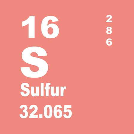 Sulfur or sulphur is a chemical element with symbol S and atomic number 16.