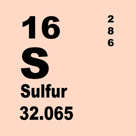 Sulfur or sulphur is a chemical element with symbol S and atomic number 16. 스톡 콘텐츠