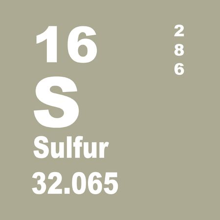 Sulfur or sulphur is a chemical element with symbol S and atomic number 16. Reklamní fotografie
