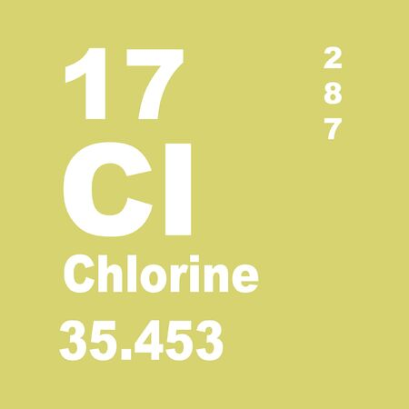 Chlorine is a chemical element with symbol Cl and atomic number 17