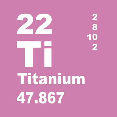 Titanium is a chemical element with symbol Ti and atomic number 22