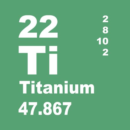 Le titane est un élément chimique de symbole Ti et de numéro atomique 22