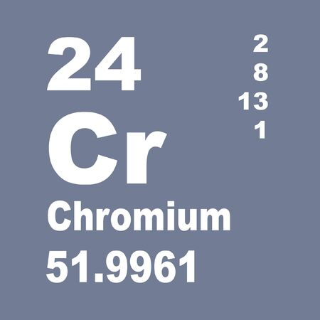 Vanadium is a chemical element with symbol V and atomic number 23. Stock fotó