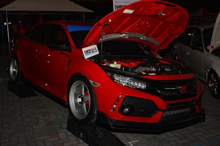 PASAY, PH - DEC. 7: Honda Civic at Bumper to Bumper 15 car show on December 7, 2019 in Mall of Asia Concert Grounds, Pasay, Philippines.