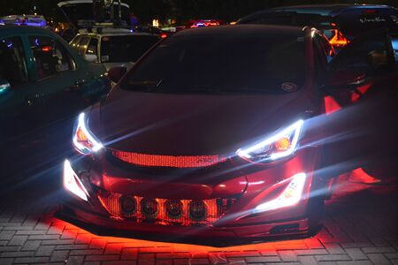 PASAY, PH - DEC. 7: Customized cars at Bumper to Bumper 15 car show on December 7, 2019 in Mall of Asia Concert Grounds, Pasay, Philippines. 報道画像