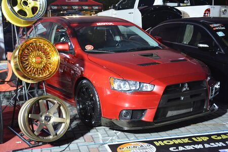 PASAY, PH - DEC. 7: Mitsubishi Lancer at Bumper to Bumper 15 car show on December 7, 2019 in Mall of Asia Concert Grounds, Pasay, Philippines. 報道画像