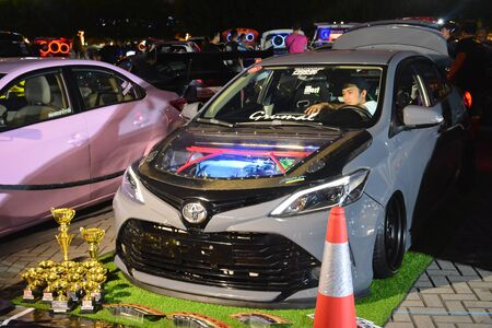PASAY, PH - DEC. 7: Honda Jazz at Bumper to Bumper 15 car show on December 7, 2019 in Mall of Asia Concert Grounds, Pasay, Philippines.