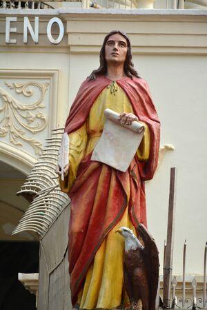 MANILA, PH - OCT. 5: Minor Basilica of the Black Nazarene or also known as Quiapo church statue figure on October 5, 2019 in Manila, Philippines.