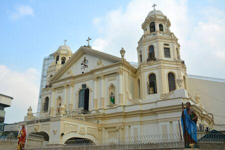 MANILA, PH - OCT. 5: Minor Basilica of the Black Nazarene or also known as Quiapo church facade on October 5, 2019 in Manila, Philippines. 版權商用圖片 - 140913610