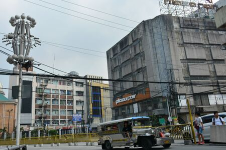 MANILA, PH - OCT. 5: Plaza Fair mart old building facade on October 5, 2019 in Manila, Philippines.