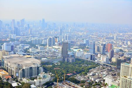 BANGKOK, TH - DEC 14: Overview of Bangkok city during daytime on December 14, 2016 in Bangkok, Thailand.