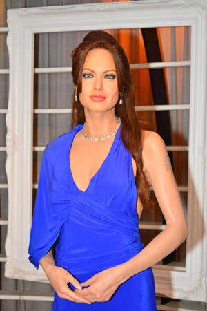 BANGKOK, TH - DEC 13: Angelina Jolie wax figure at Madame Tussauds on December 13, 2016 in Bangkok, Thailand.