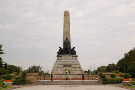 MANILA, PH- OCT. 1: Rizal Park also known as Luneta National Park monument statue on October 1, 2011 in Roxas Boulevard, Manila. Rizal Park is one of the major tourist attractions and favorite leisure spot of Manila. Redactioneel