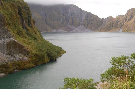 Crater lake Pinatubo in Zambales, Philippines.