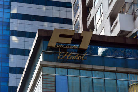 TAGUIG, PH- OCT. 1: F1 hotel Manila facade on October 1, 2016 in Bonifacio Global City, Taguig, Philippines.